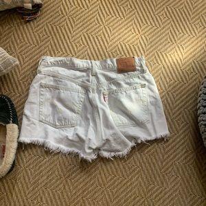 EUC distressed Levi shorts